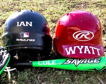 Baseball Helmet Decal - Football Helmet Decal - Sport Equiment Decal - Sport Decal