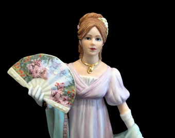 Lenox China The American Fashion Collection Hand Painted Bisque Porcelain Gala At The White House Lady Figurine With Fan