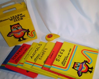Vintage SCRIBBLERS Learn With Me Activity Set, 6 Packets, 1983