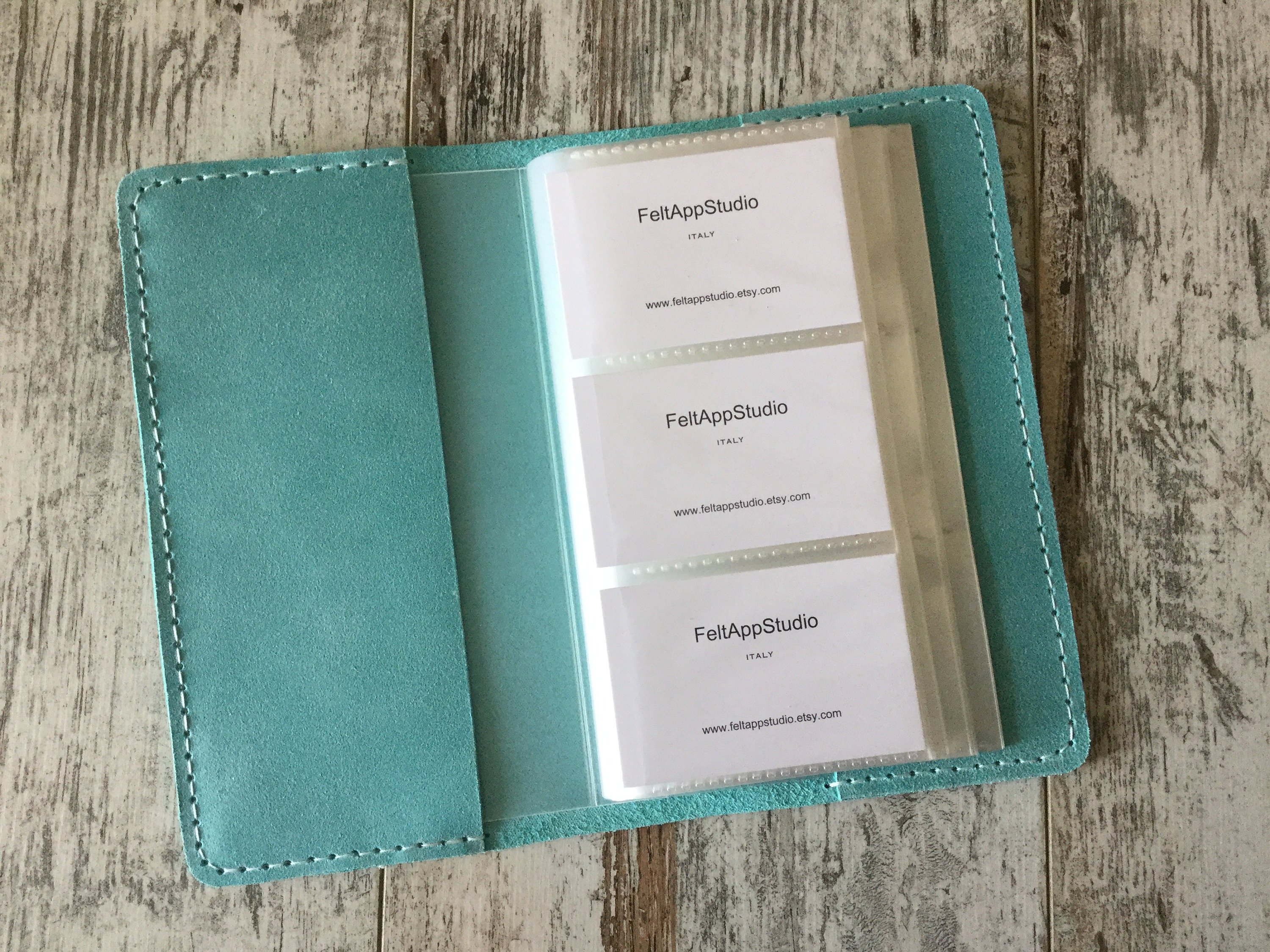Personalized Leather Card Case Business Card Holder Organizer Etsy