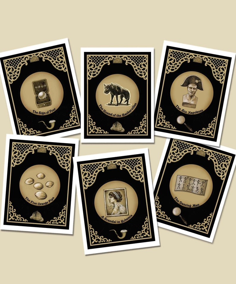 Sherlock Holmes Cards Notecards Elementary Book Lovers image 0