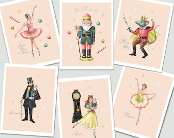 Nutcracker Christmas Cards, Nutcracker Ballet Card Set, Mouse King, Sugar Plum Fairy