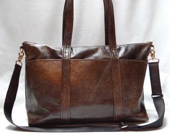 Leather Diaper Bag Tote (Unisex) 0350bc5d0420d