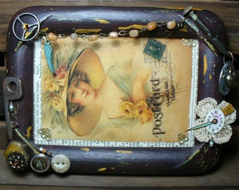 Steampunk Rustic Travels Picture Frame