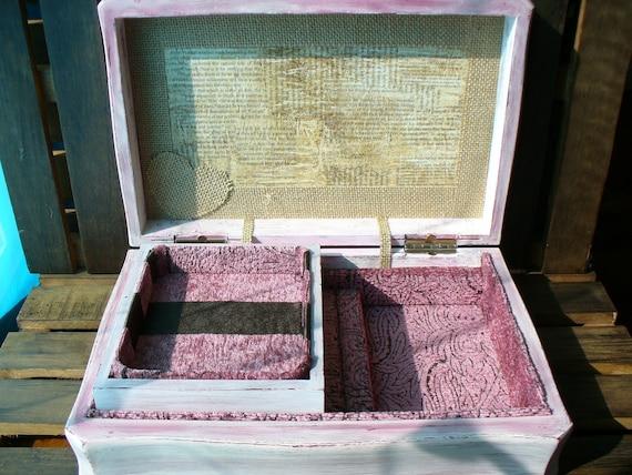 Upcycled Boho Shabby Chic Vintage Jewelry Box