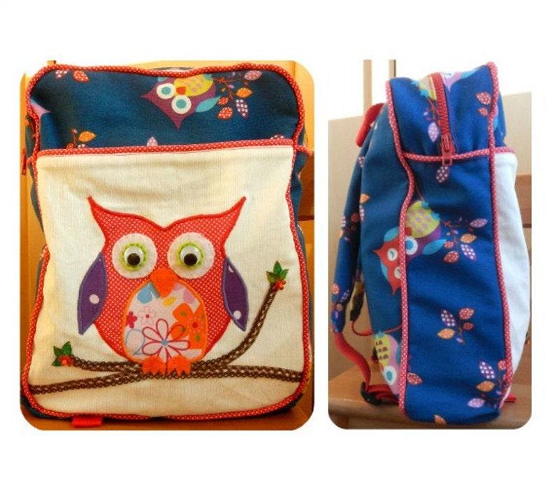 Toddler Backpack PDF pattern Kids Backpack PDF pattern image 0