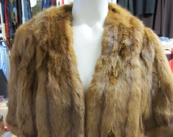 Mink Shawl // Brown Fur Capelet // 1950s Fur Stole // 50s Jacket // Genuine Fur Coat // ONE SIZE Fits MOST