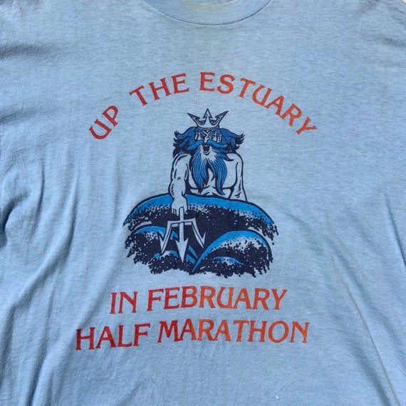 1980s Baby Blue Marathon T-Shirt - image 3