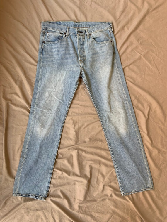1990s Levis 501 Washed Jeans