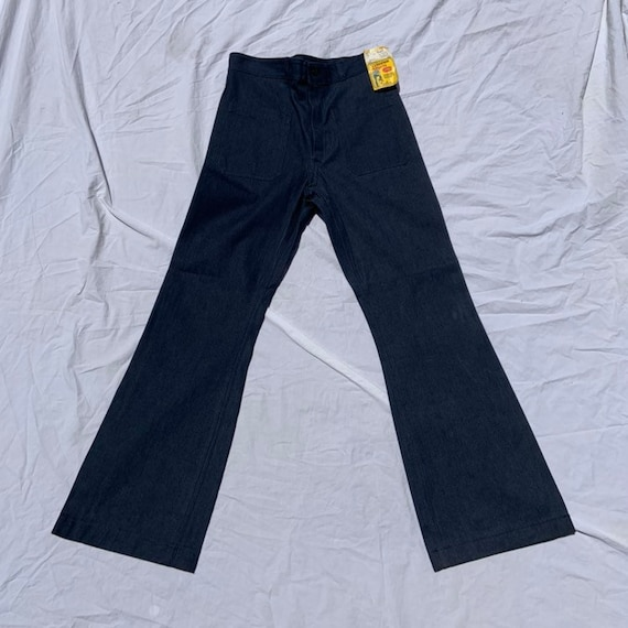1970s (Unused!!) Dungaree Deadstock Bell Bottoms