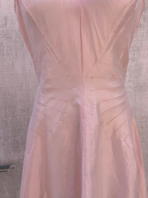 1950s Pink Raw Silk Dress - image 3