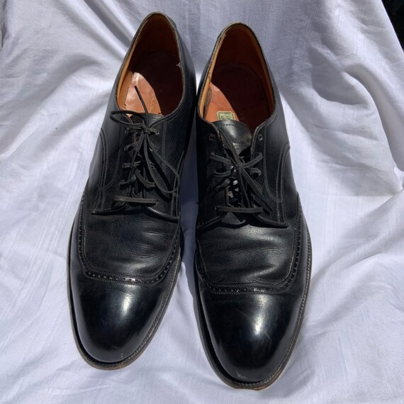 1960s Black Leather Dress Shoes