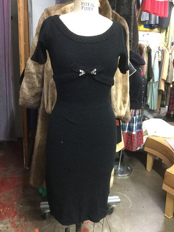 1950's Black Sweater Dress