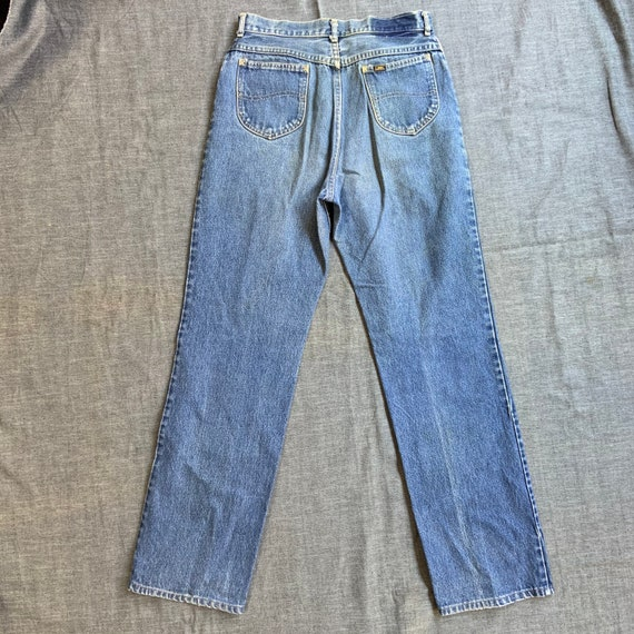 1980s Lee Rider Washed Jeans - image 2