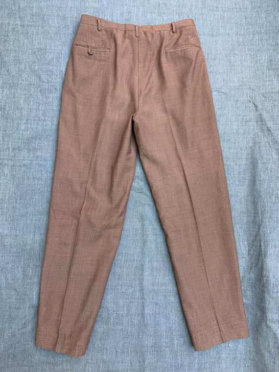 1940s Brown Linen Trousers - image 2