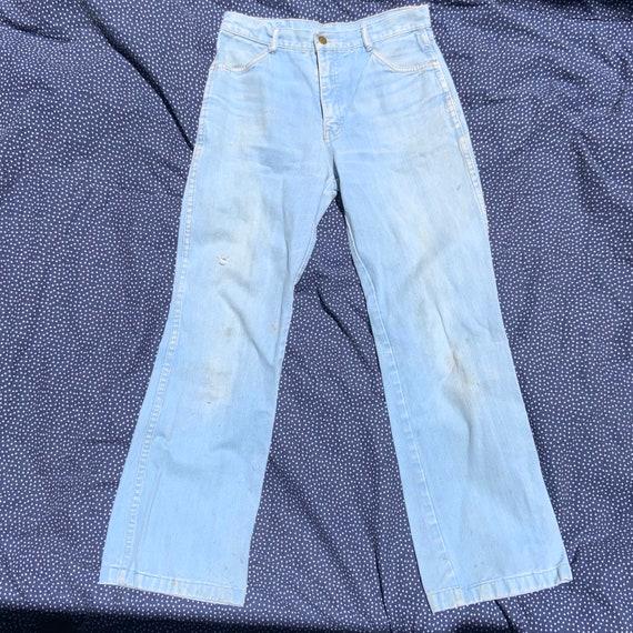 1970s Britaninia Flair/Boot Cut Blue Jeans
