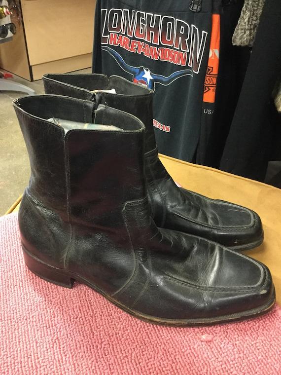 Black Florsheim Size 12 Mens Ankle Boots
