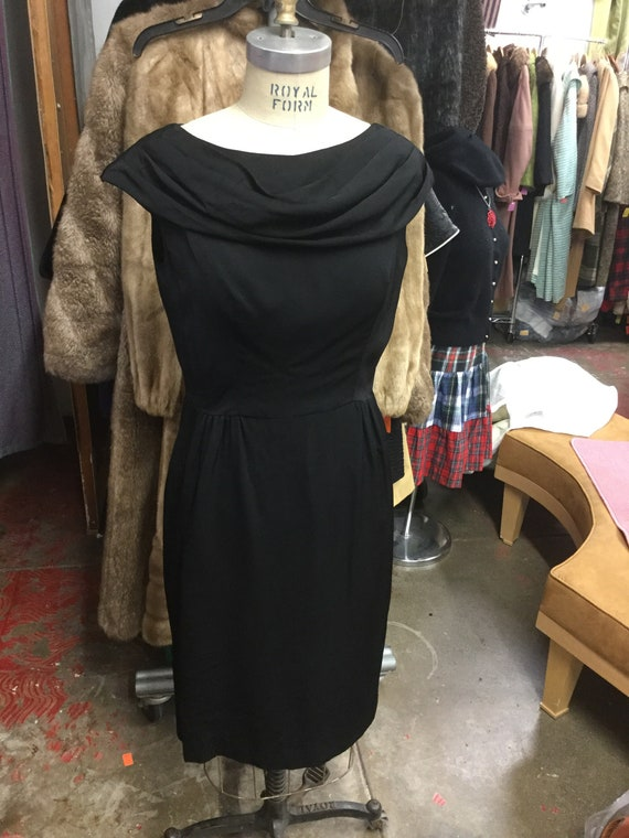 1950's Black Cocktail Dress