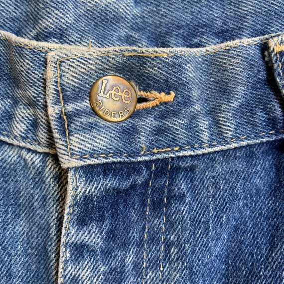 1980s Lee Rider Washed Jeans - image 4