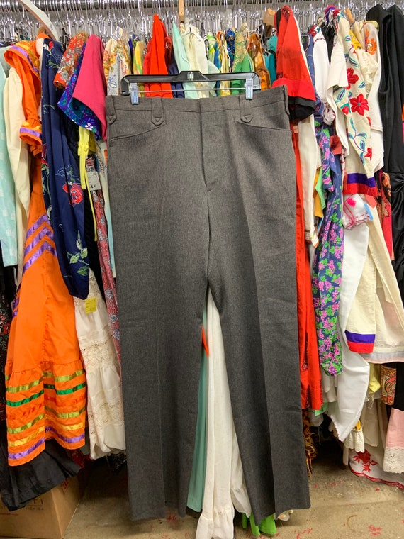 1970s DEADSTOCK Marled Brow/Heather Grey Western P