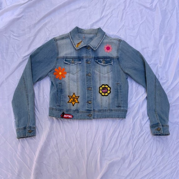 1980s Denim Patch Jacket - image 1
