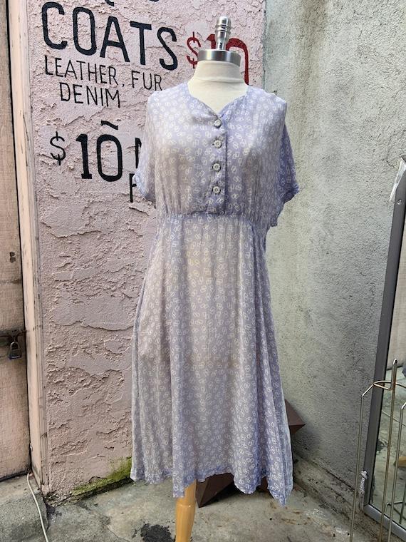 1940s Depression Era Sheer Lavender Dress