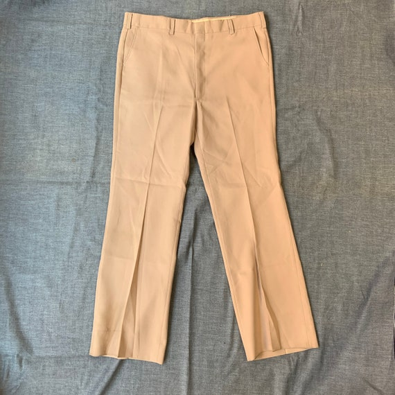 1970s Beige Flare Trousers