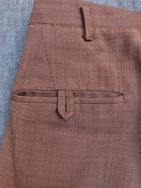 1940s Brown Linen Trousers - image 3