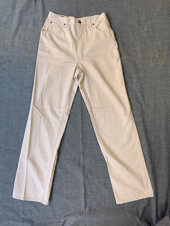 1980s Lee Rider High Waist Beige Jeans