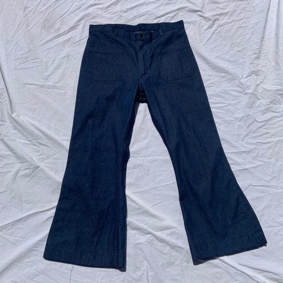 1970s Denim Bell Bottoms
