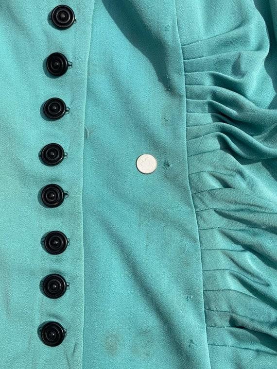 Lilli Ann 1940s Turquoise Jacket - image 4