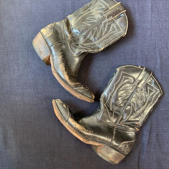 1950s Black Cowboy Boots