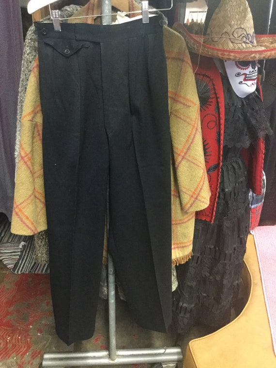 Black Trouser 1950's Pants