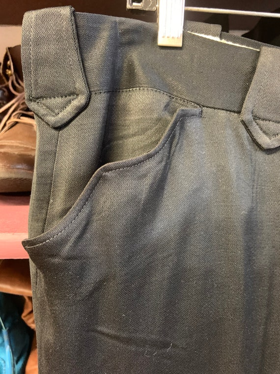 1950s Black Western Pants - image 3