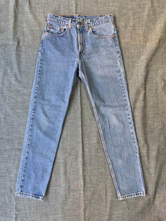 1980s Levis 512 Tapered Jeans