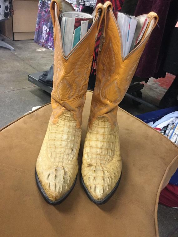 Carlos maat 9 leren Alligator gele laarzen