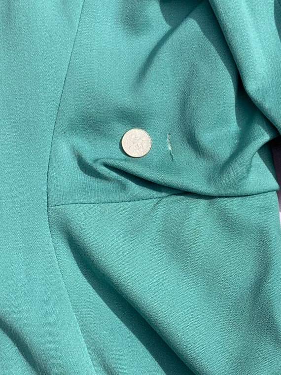 Lilli Ann 1940s Turquoise Jacket - image 6