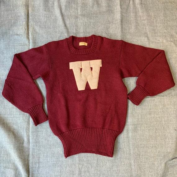 1950s Maroon Letterman Sweater