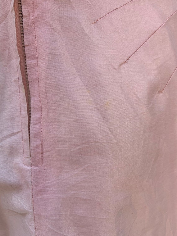 1950s Pink Raw Silk Dress - image 6