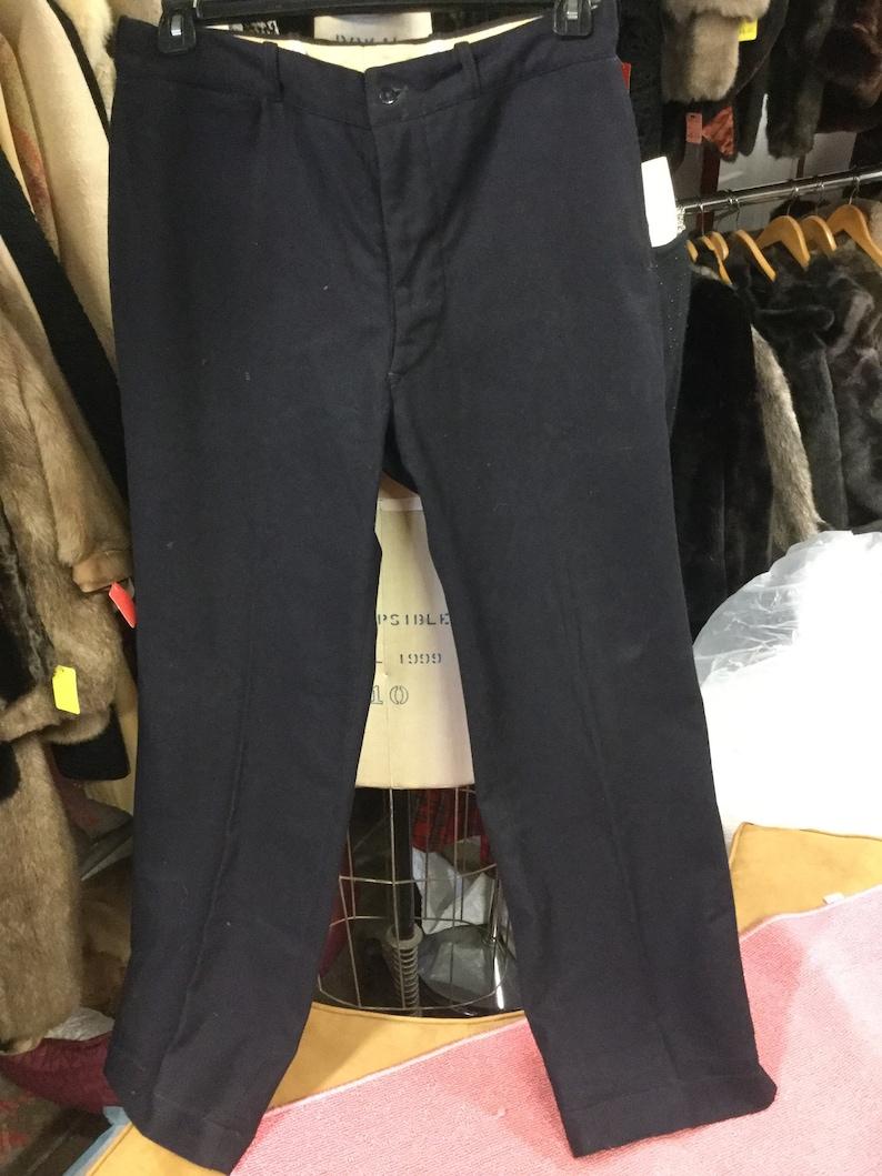 860e0720 Navy Wool Men's Pants Waist size 33