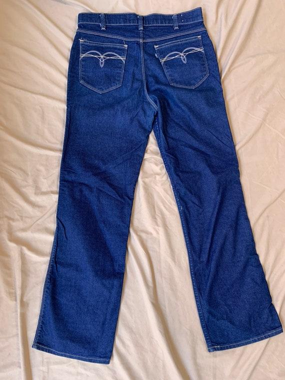 1970s Woman's Blue Tab Levi's Indigo Jeans