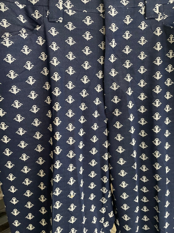 1970s Anchor Bell Bottom Pants - image 2