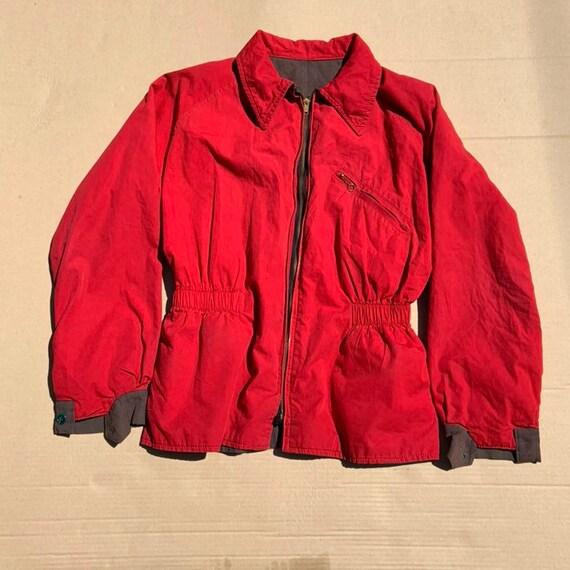 1940s Reversibile Red/Brown Ski Jacket