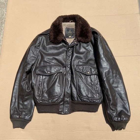 1980s Brown Bomber Leather Jacket