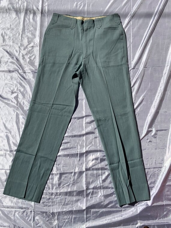 Men's 1950's Light Turquoise Western Pants