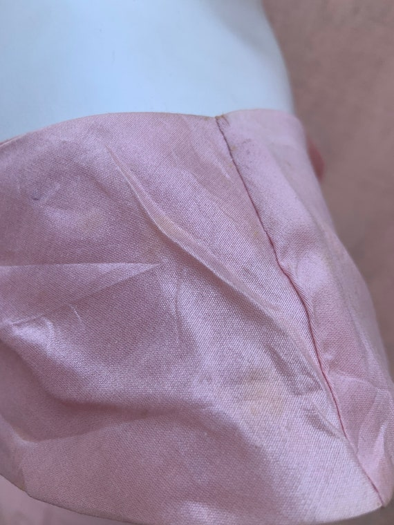 1950s Pink Raw Silk Dress - image 8
