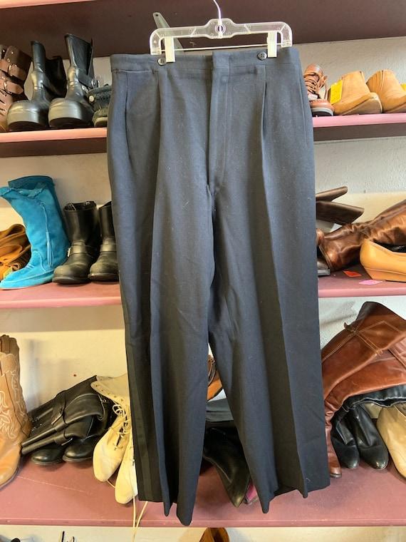 1940s Black Tuxedo Pants