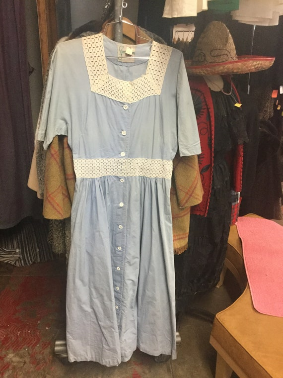 Baby Blue Lacey Sweet Heart Dress