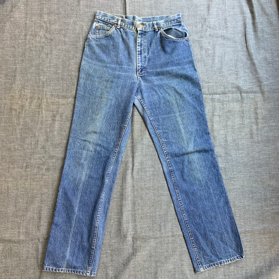 1980s Lee Rider Washed Jeans - image 1