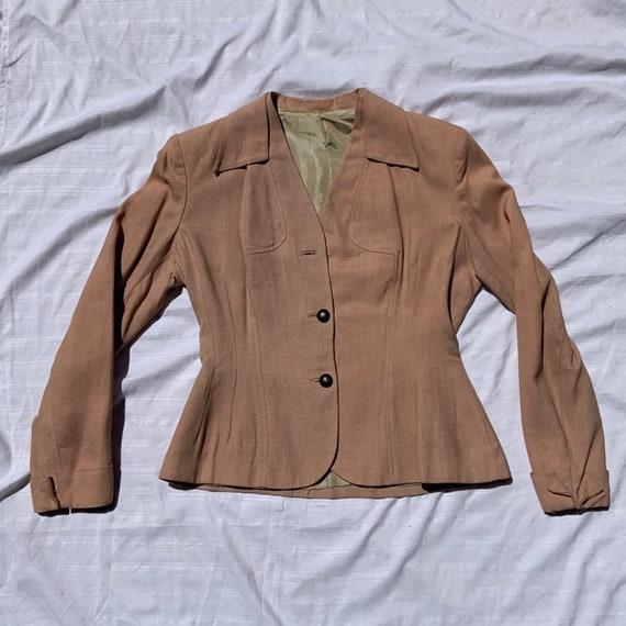 1940s Blueb Pink Women's  Blazer